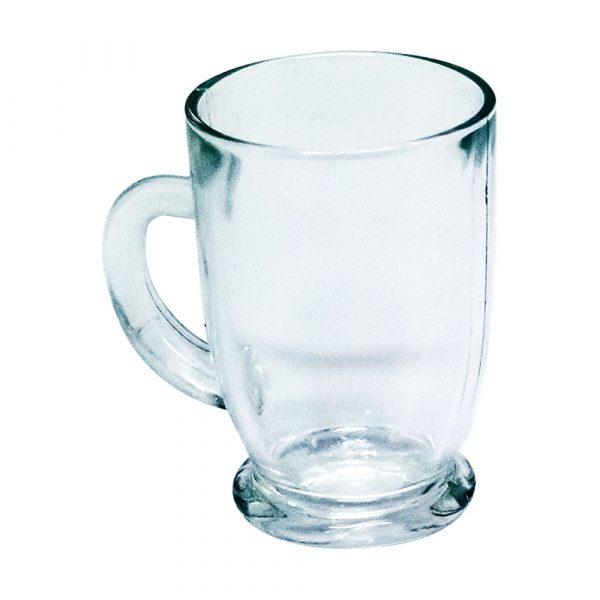 caneca de vidro transparente flint capucci